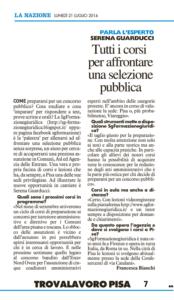 Rassegna Stampa La Nazione - luglio 2014